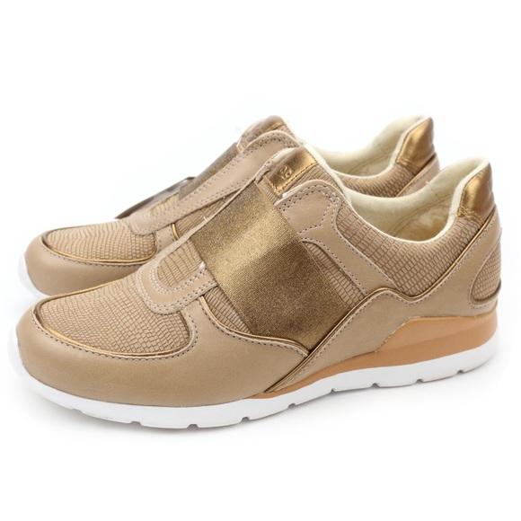 3938b5d5532 UGG Annetta Dark Gold Metallic Leather Sneakers Boutique